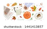 hello  autumn. set of cute... | Shutterstock .eps vector #1441413857