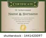 certificate or diploma vintage... | Shutterstock .eps vector #1441420097