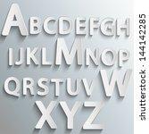 vector alphabet set | Shutterstock .eps vector #144142285