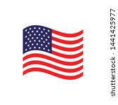 usa flag symbol vector... | Shutterstock .eps vector #1441425977