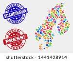 assemble scandinavia map and... | Shutterstock .eps vector #1441428914