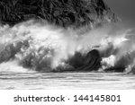 close up of breaking waves   Shutterstock . vector #144145801
