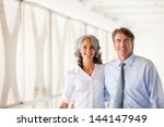 good looking business man and...   Shutterstock . vector #144147949