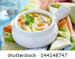 chicken noodle soup | Shutterstock . vector #144148747