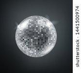 shining disco sphere. vector... | Shutterstock .eps vector #1441500974
