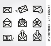 mail icons | Shutterstock .eps vector #144150364