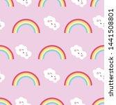 seamless pattern cute character ...   Shutterstock .eps vector #1441508801
