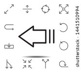 arrow left icon. simple thin...