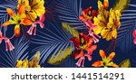 seamless floral pattern with... | Shutterstock .eps vector #1441514291