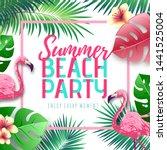 summer beach party typography...   Shutterstock .eps vector #1441525004