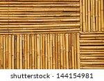 bamboo fence texture | Shutterstock . vector #144154981