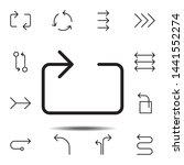arrow  loop icon. simple thin...