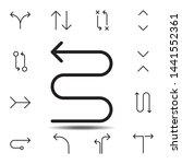 arrow zig zag icon. simple thin ...