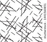 grunge halftone black and white ... | Shutterstock .eps vector #1441560851