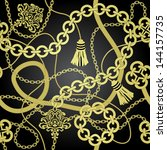 Gold Chain Seamless Vector...