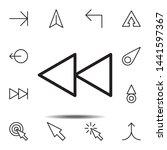 arrow enter icon. simple thin...