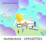 online education vector...
