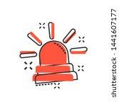 emergency siren icon in comic...   Shutterstock .eps vector #1441607177