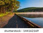Morning light and fog on Spruce Knob Lake, Monongahela National Forest, West Virginia.