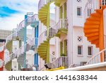 Colorful Spiral Stairs Of...