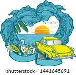 time to travel summer holidays... | Shutterstock .eps vector #1441645691