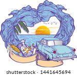 time to travel summer holidays... | Shutterstock .eps vector #1441645694