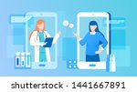 patient consultation to the... | Shutterstock .eps vector #1441667891