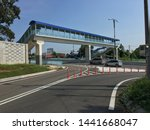 a view of overpass at the exit... | Shutterstock . vector #1441668047
