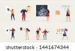 exhibition modern abstract...   Shutterstock .eps vector #1441674344