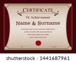 certificate or diploma vintage... | Shutterstock .eps vector #1441687961