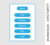 ui element. menu for games and ...