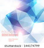 abstract colorful polygonal... | Shutterstock .eps vector #144174799