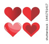 collection of heart...   Shutterstock .eps vector #1441751417