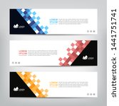 abstract web banner template ... | Shutterstock .eps vector #1441751741