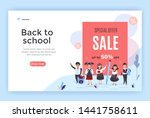 back to school sale banner with ... | Shutterstock .eps vector #1441758611