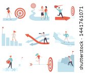 business people moving to...   Shutterstock .eps vector #1441761071