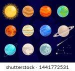 bright  cartoon planets. vector ... | Shutterstock .eps vector #1441772531