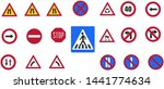 road signs for drivers traffic... | Shutterstock . vector #1441774634