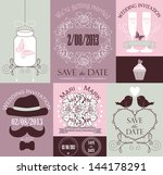vector set of decorative... | Shutterstock .eps vector #144178291