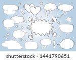 a set of comic speech bubbles... | Shutterstock .eps vector #1441790651