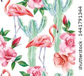 seamless composition pink... | Shutterstock . vector #1441791344