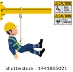 an industrial worker with... | Shutterstock .eps vector #1441805021
