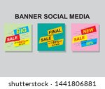 set media banners with discount ... | Shutterstock .eps vector #1441806881