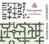 road constructor   seamless... | Shutterstock .eps vector #144180895