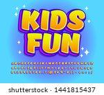 kids fun sticker font effect ... | Shutterstock .eps vector #1441815437
