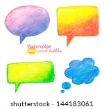 vector bright watercolor... | Shutterstock .eps vector #144183061