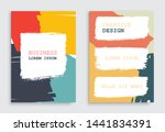 colorful poster or flyer... | Shutterstock .eps vector #1441834391