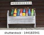 buoy display in corolla  north... | Shutterstock . vector #144183541