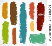 vector set of grunge colorful... | Shutterstock .eps vector #144186901