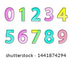 numbers font type collection of ... | Shutterstock . vector #1441874294